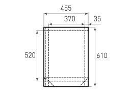 Вертикальный бумажный пакет V370x520x70