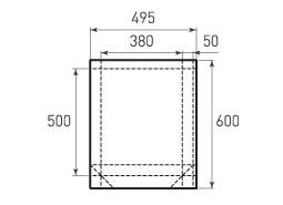 Вертикальный бумажный пакет V380x500x100
