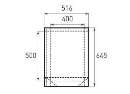 Вертикальный бумажный пакет V400x500x100