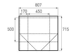 Вертикальный бумажный пакет V450x500x340