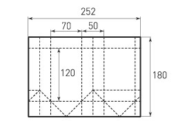 Пакет вертикальный V70x120x50