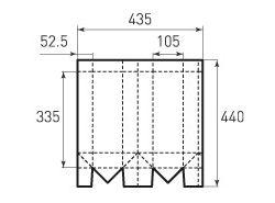 Вертикальный бумажный пакет под бутылку v105x335x105