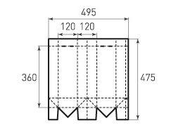 Вертикальный бумажный пакет под бутылку v120x360x120