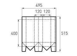 Вертикальный бумажный пакет под бутылку v120x400x120