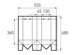Вертикальный бумажный пакет под бутылку v130x360x130