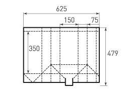 Бумажный пакет под бутылку v150x350x150