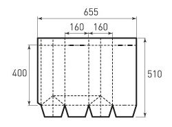 Бумажный пакет под бутылку v160x400x160