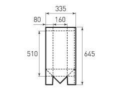 Бумажный пакет под бутылку v160x510x160