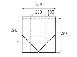 Бумажный пакет под бутылку v200x260x200