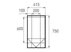 Бумажный пакет под бутылку v200x600x200