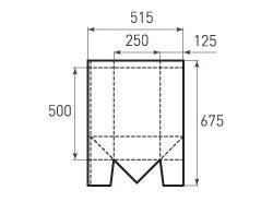 Бумажный пакет под бутылку v250x500x250