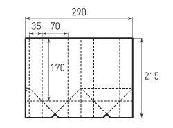 Вертикальный бумажный пакет под бутылку v70x170x70