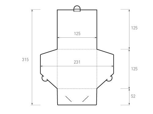 Квадратный конверт 125x125