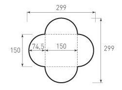 Квадратный конверт КД 150x150 полукруглый