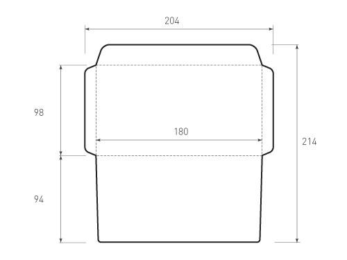 Горизонтальный конверт 180x98