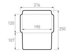 Горизонтальный конверт 190x120