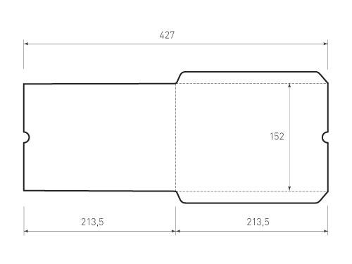 Горизонтальный конверт 213,5x152