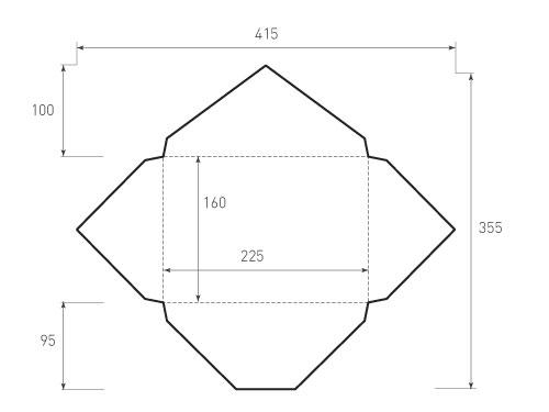 Горизонтальный конверт 225x160