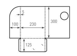 Папка ФС 230x300x5 с местом для визитки 90x50