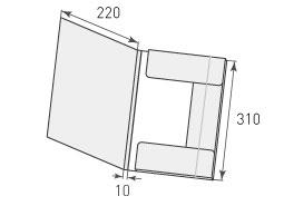 Папка ФВ 220x310x10 с резинкой