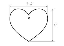 Бирки сердце 51,7x45 6штук