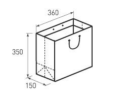 Горизонтальный бумажный пакет Г360x350x150