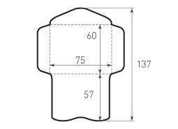 Конверт горизонтальный 75x60