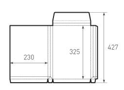 Конверт вертикальный 230x325x30