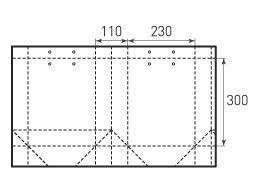 Вертикальный бумажный пакет В 230x300x110