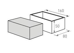 Коробка крышка дно с оклейкой 160x80x50