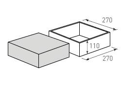 Коробка крышка дно с оклейкой 270x270x110