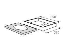 Коробка крышка дно с оклейкой 350x250x45