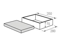 Коробка крышка дно с оклейкой 350x280x70