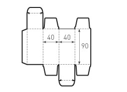 Коробка из 1 слойного картона 40x40x90 6 штук