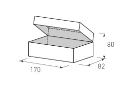 Коробка из двух слойного картона 170x80x82