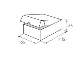 Коробка из микрогофрокартона 128x235x66