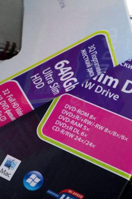 Стикеры на упаковку электроники 3Q 04