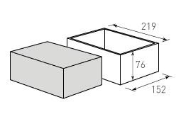 gps Коробка крышка дно с оклейкой 152x219x76